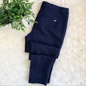 WHBM navy blue slim ankle pants 6